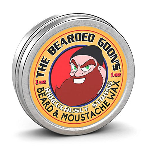 The Bearded Goon's Ridiculously Strong Beard and Handlebar Mustache Wax - 1oz (30ml)