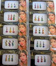 Image of 8 Bindi Pack- 24 Combo Bindi Stickers Multicolored,Silver,Gold,Black, Bindi Tattoo Bindi Jewelry