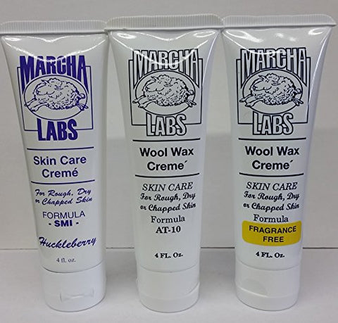 Wool Wax Creme Skin Care Formula AT-10/SMI 4 oz. (Variety Pack)