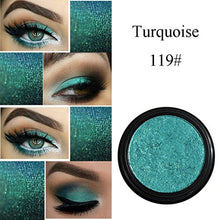 Eye Shadow, Ikevan PHOERA Eyeshadow Palette Glitter Shimmering Colors Eyeshadow Metallic Eye Cosmetic (119#)
