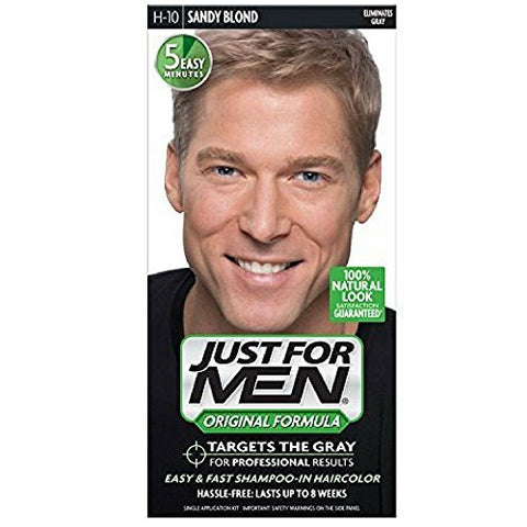 JUST FOR MEN Hair Color H-10 Sandy Blond 1 ea (Pack of 4)