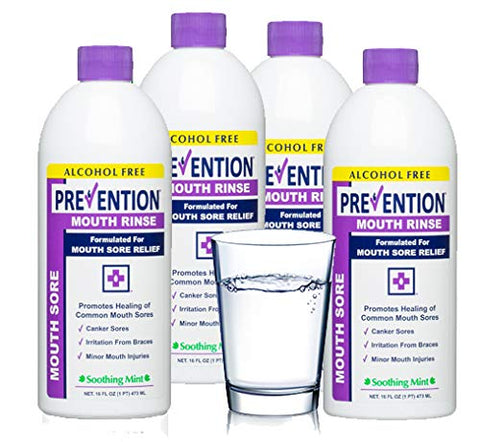 Prevention Mouth Sore Mouth Rinse | Canker Sore Treatment - 4 Pack