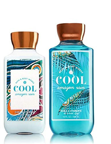 Bath and Body Works COOL AMAZON RAIN DUO Gift Set - Body Lotion & Shower Gel Full Size