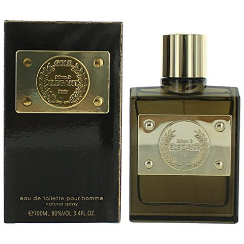 Elegant Gold FOR MEN by Johan B. Paris - 3.4 oz EDT Spray by Johan