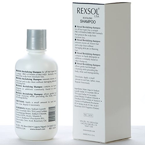 REXSOL Revitalizing Shampoo Scientifically Formulated to clean thinning hair (240 ml / 8 fl oz)