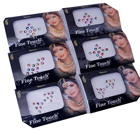 IFH Indian Tattoos Stickers Bindi Sparkling Body Tattoo Art Sticker Bindis Lot of 20 Packs