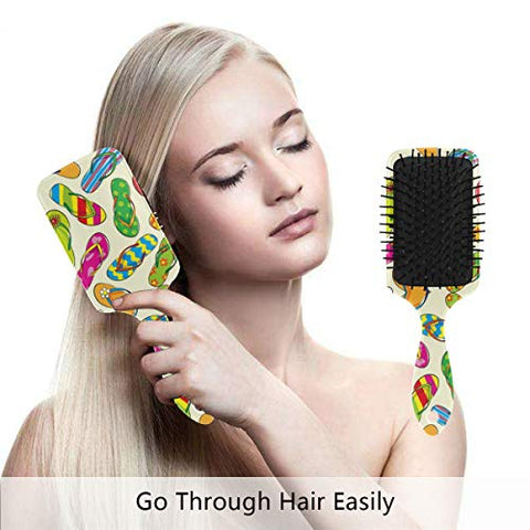 Linomo Hair Brush Colorful Flip Flops Air Cushion Massage Comb for Women Kids, Nylon Brush for Wet Dry Curly Hair