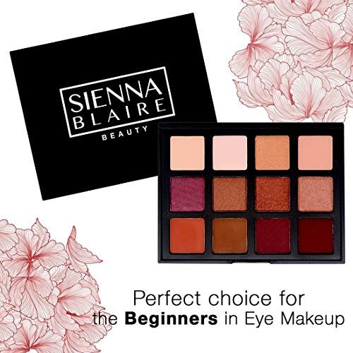 Sienna Blaire Beauty Eyeshadow Palette 12 Color Bold Tone Eyeshadow Makeup Kit For Womenã¢â€â™S