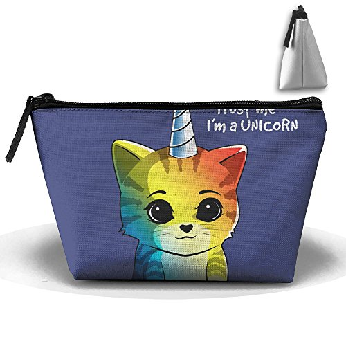 HTSS Color Unicorn Cat Portable Makeup Receive Bag Storage Large Capacity Bags Hand Travel Wash Bag