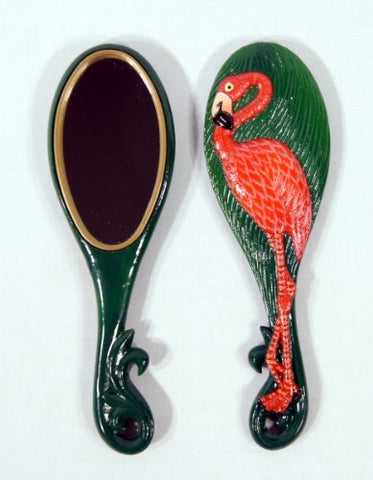 Wholesale Pack Handpainted Flamingo Bird Handheld Mirror (Set Of 12)