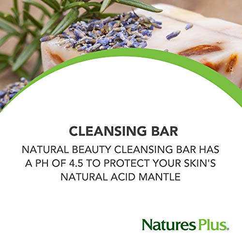 Natures Plus Natural Beauty Cleansing Bar (5 Pack)   500 Iu Vitamin E With Allantoin, 3.5 Ounce Bar