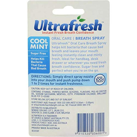 #MG ULTRAFRESH Breath Spray Cool Mint 12ml -Helps prevent bad breath and leaves your mouth feeling instantly clean and minty cool