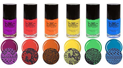 Maniology (formerly bmc) 6pc Bright and Festive Creative Art Stamping Polish Set - Weekend Warrior