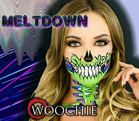 Woochie Water Activated Makeup Kit - Professional Quality Halloween and Costume Makeup - Meltdown