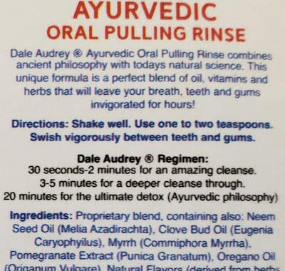 Dale Audrey | Oil Pulling Ayurvedic Mouthwash, 3 Pack | Natural Cinnamon Oral Health Rinse, Whitens Teeth, Healthy Gums, (3) 8 oz Bottles | Organic, Vegan & Cruelty Free