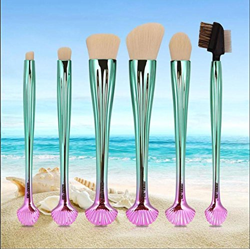 OSM&LX 6pcs Makeup Brushes Foundation Powder Eyeshadow Eyelash Eyebrow Shell Brush Make up Tools Shell