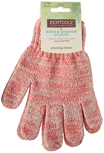 EcoTools Recycled Bath and Shower Gloves, Colors May Vary