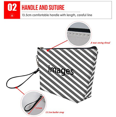 doginthehole Portable Waterproof Travel Hanging Organizer Pencil Multifunction Purse Print