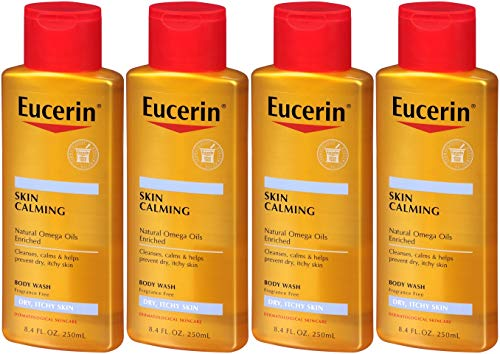 Eucerin Skin Calming Body Wash Daily Shower Oil-8.4, oz. (Pack of 4)