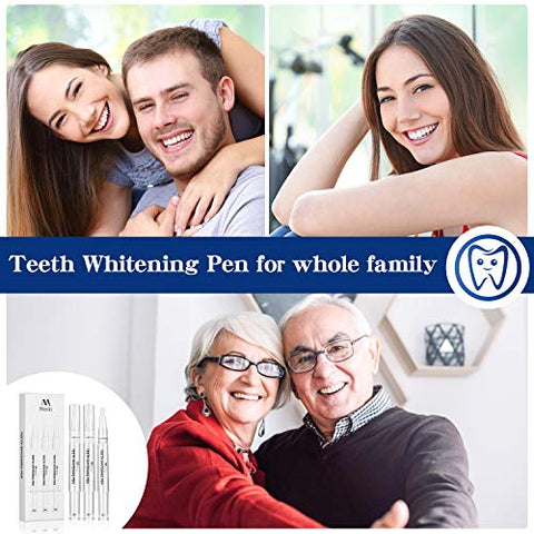 Teeth Whitening Pen, 30+ Treatments, Remove 15 Years of Stains in 1 Week Safely, Painless No Sensitivity Tooth Whitening Gel Dental Recommend, Travel Friendly Easy to Use, Beautiful Smile Mint Flavor