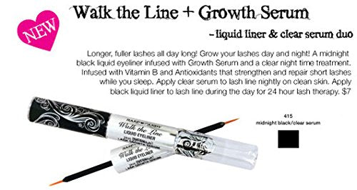 Hard Candy Walk The Line Liquid Eyeliner & Lash Grow Treatment - 415 Midnight Black by Hard Candy
