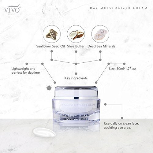 Vivo Per Lei Day Cream   Dead Sea Face Cream For Dull, Dry Skin   Moisturizing Day Cream With Shea B