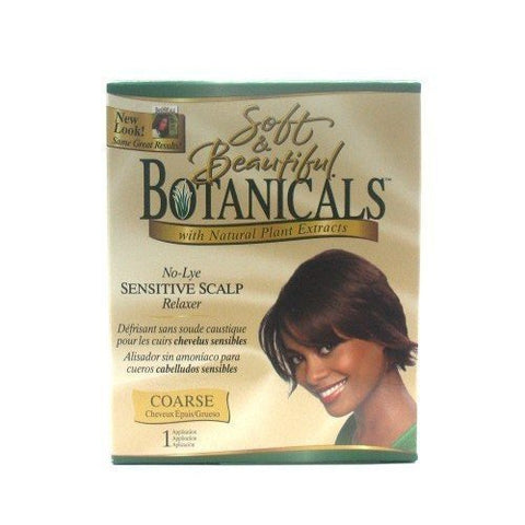 SOFT & BEAUTIFUL BOTANICALS NO-LYE SENSITIVE SCALP HAIR RELAXER COARSE