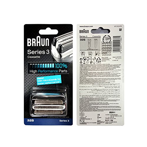 Braun Replacement Foil & Cutter Cassette - 32S, Series 3 - Silver