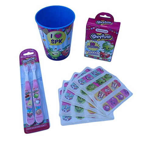 Shopkins Toothbrush & Bandage Oral Care Bundle
