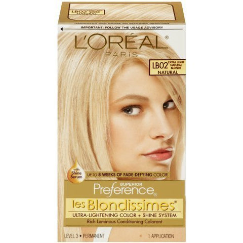 Pref Exlit Nat Bld Lb-02 Size Ea L'Oreal Preference Les Blondissimes Hair Color Extra Light Natural Blonde #