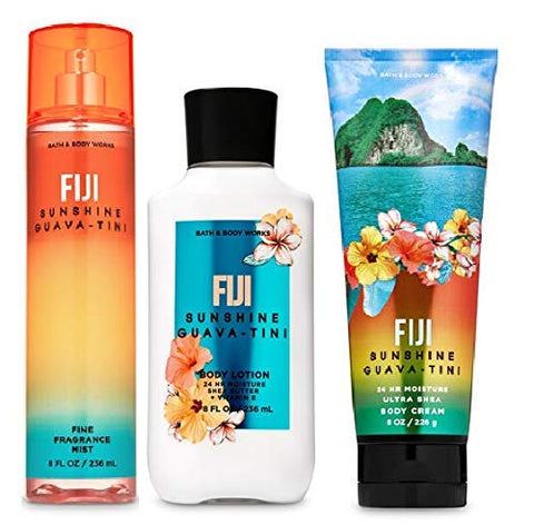 Bath and Body Works FIJI SUNSHINE GUAVA-TINI Gift Set - Body Lotion - Body Cream and Fragrance Mist - Full Size
