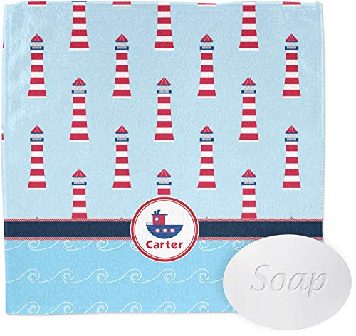 Light House & Waves Wash Cloth (Personalized)