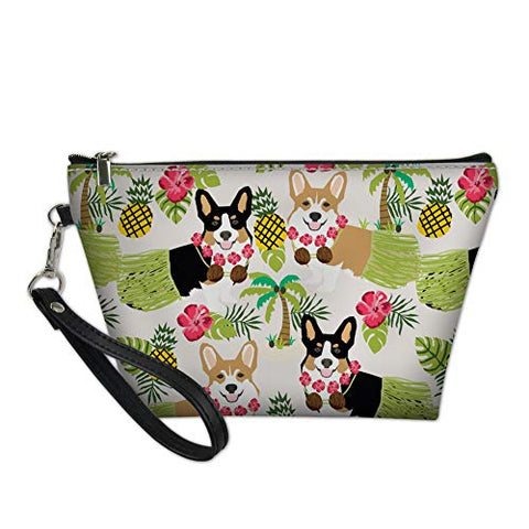 doginthehole Multifunction Pouch Case Cosmetic Organizer Bag Travel Toiletry Carrying Purse Dog Printed