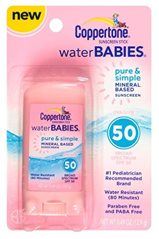 Coppertone Spf#50 Waterbabies Pure And Simple Stick 0.49 Ounce (Pack of 4)