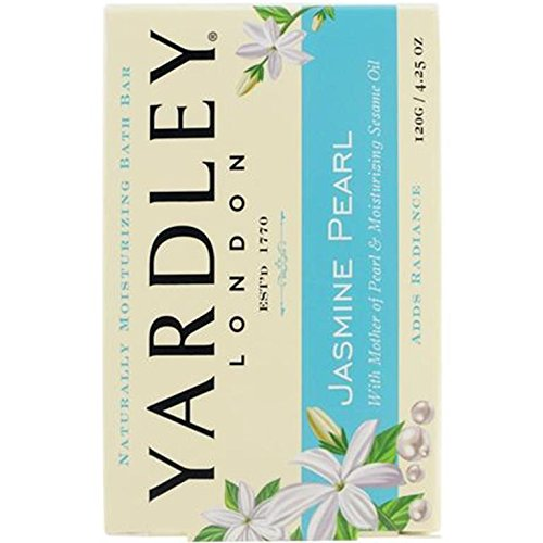Yardley London Jasmine Pearl Naturally Moisturizing Bath Bar, 4.25 ounce
