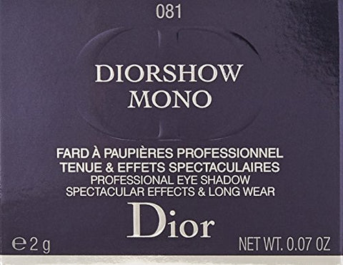 Christian Dior Diorshow Mono Professional Eye Shadow, 081 Runway, 0.07 Ounce