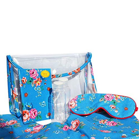 Cath Kidston Essential Travel Gift Set Field Rose - Bright Blue 517690