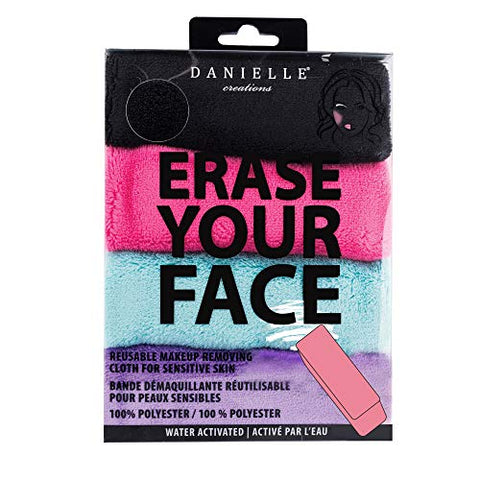 Make Up Removing Cloths 4 Count, Erase Your Face By Danielle Enterprises Enterprises Enterprises