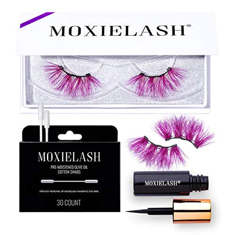 MoxieLash Candy Kit - Mini Magnetic Liquid Eyeliner, Set of Candy Lashes & Eyeliner Removers - No Glue & Mess Free - Fast & Easy Application