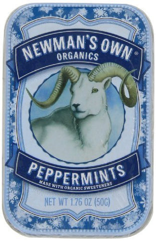 Newman's Own Organics Mints, Peppermint, 1.76-Ounce Packages (Pack of 6) by Newman's Own