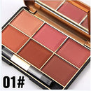 Image of FantasyDay Pro 6 Colors Large Compact Powder Blush/Cheek Contouring Blusher Makeup Palette Contouring Kit #1