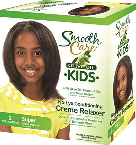 Smoothcare Olive Kid No-Lye Relaxer - Super Kit 2-Count