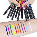 Image of Matte Liquid Eyeliner 12 Pieces 12 Colors Professional Bright-colored Long Lasting Waterproof Eyeliner Eye Liner Pen Set, Best Liquid Eyeliner for women girl (12 Pcs)
