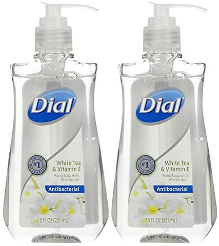 Dial White Tea & Vitamin E Antibacterial Handsoap with Moisturizer (2 pack)