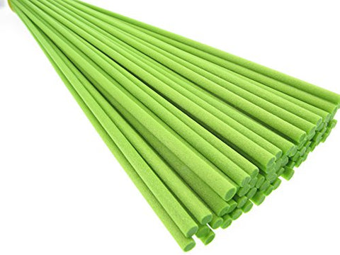 Breath Me TM 50pcs Lime Green Reed Diffuser Fibre Sticks 12 inch for Air Freshener and Aroma