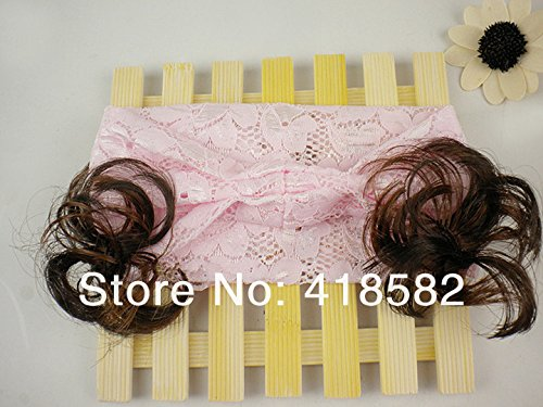 Beautiful Child Hair Accessory Girls Baby Wig Princess Bud Silk Love Heart Design Hair Bands Accessories