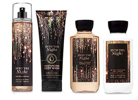 Bath and Body Works INTO THE NIGHT - Deluxe Gift Set Body Lotion - Body Cream - Fragrance Mist and Shower Gel - Full Size