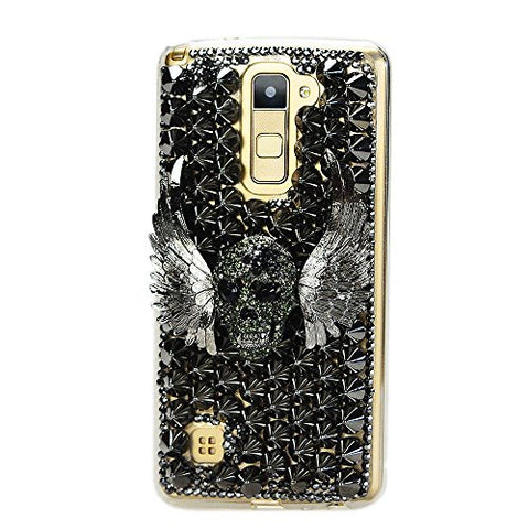 STENES Sparkly Punk Rivet Wing Skull Case For Huawei Mate 10 Pro - Black