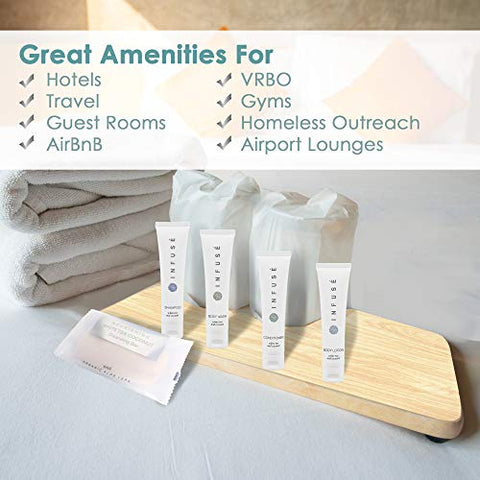 Infuse | 1-Shoppe All-In-Kit | Hotel Size Amenities Set | Hotel/AirBnB/VRBO/Vacation Rental Soap Set | (75 pcs)