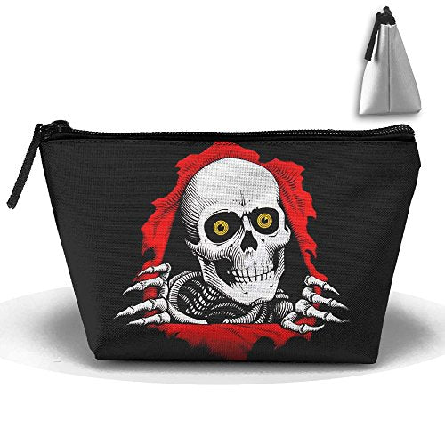 Skull Skate Logo Multifunction Portable Mini Makeup Bag Cosmetic Bag For Home Office Travel Sport Gym Outdoor